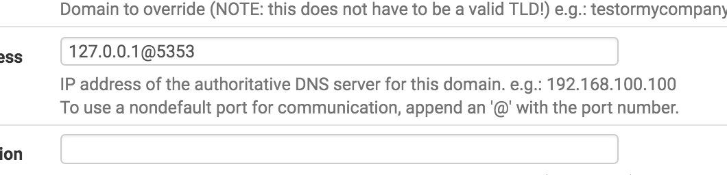 Bug #6091: DNS Resolver: Domain Override: Impossible to
