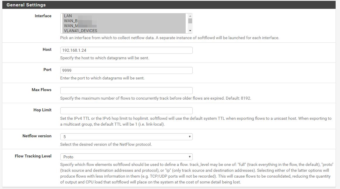 Bug #6807: Softflowd + multiplie interfaces - pfSense Packages