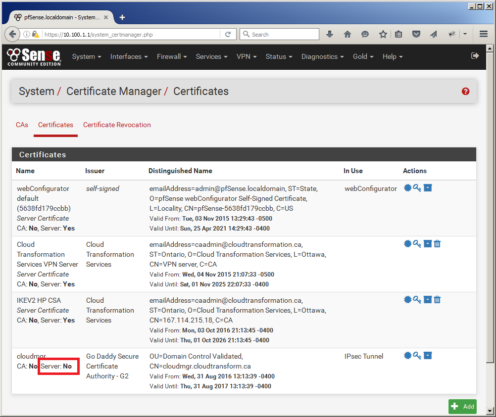 Bug 6877 Nscerttype Server Property Of A Certificate Is Not