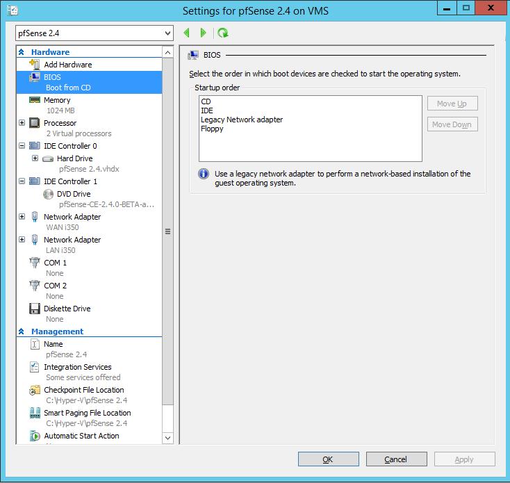 Bug #7213: Hyper-V install, no disk found - pfSense - pfSense bugtracker