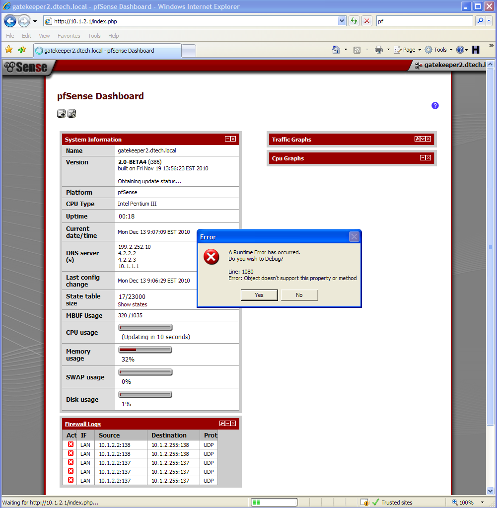 Bug 1097 onload javascript on rules page of management for Window onload not working in ie