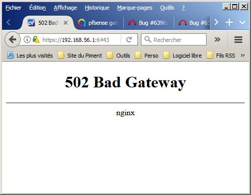 Bug #6396: 504 gateway time out nginx - pfSense - pfSense