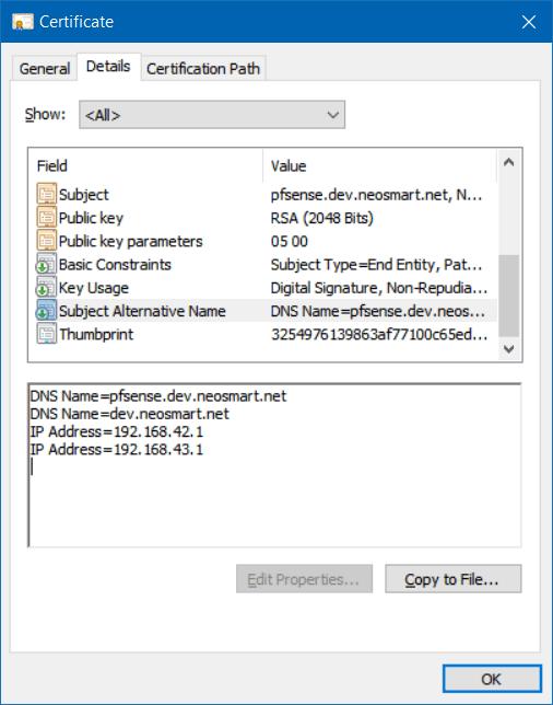 Bug #8275: Input validation for Certificate SAN (Subject Alternative