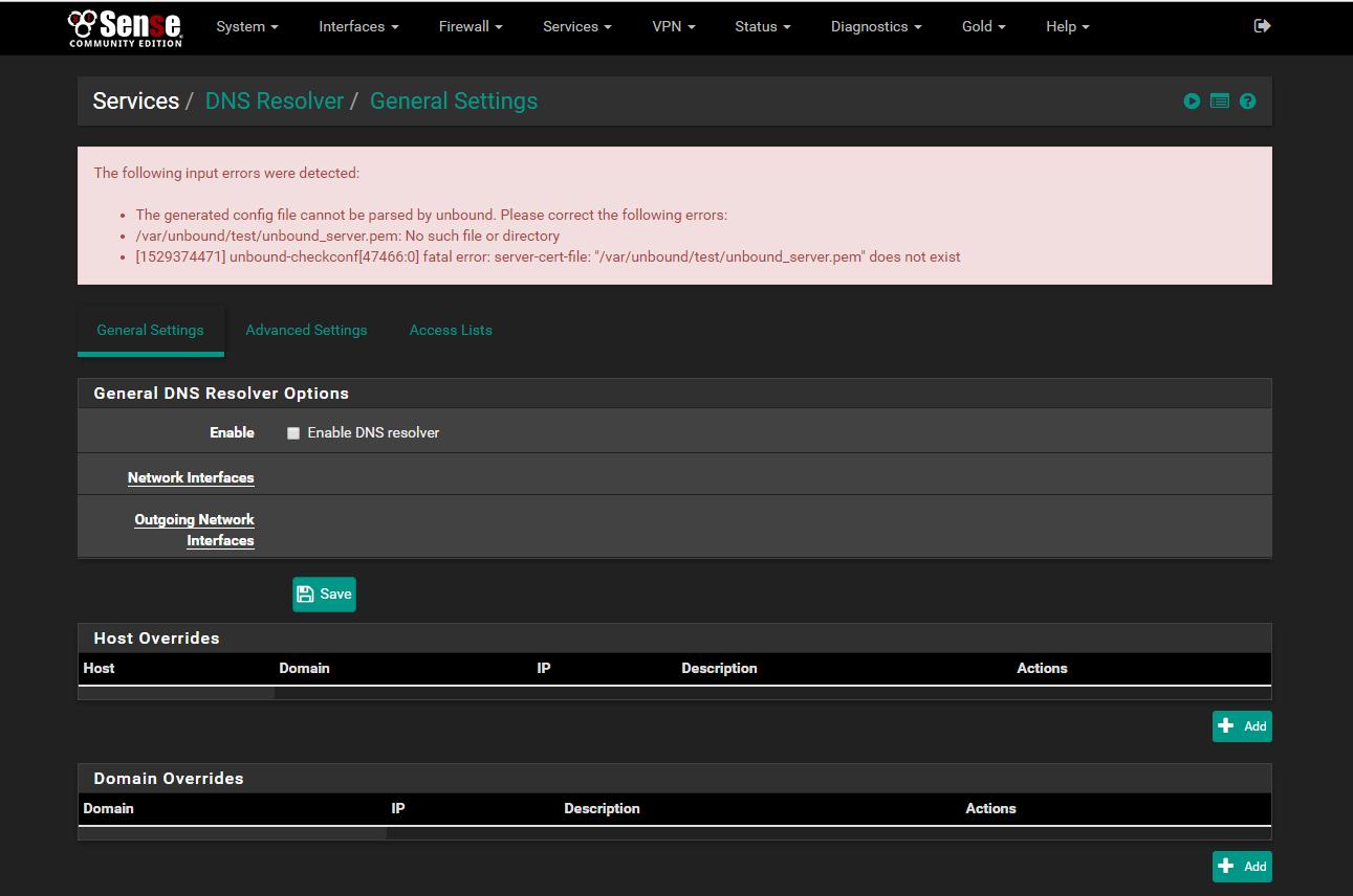 Feature #8578: /var/unbound/test/unbound_server pem: No such