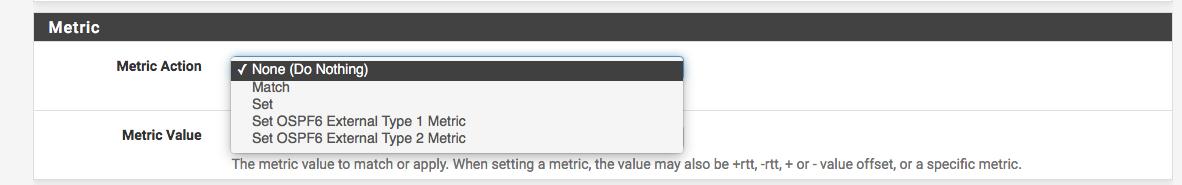 Feature #7794: FRR pkg pfsense no metric-type option in OSPF